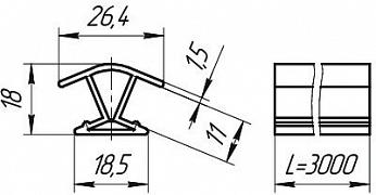Размеры профиля соединительного 135°